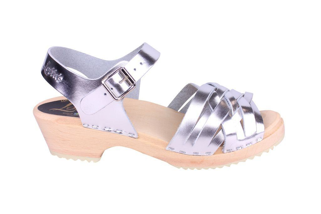 Lotta From Stockholm Low Silver Braid Clogs Side