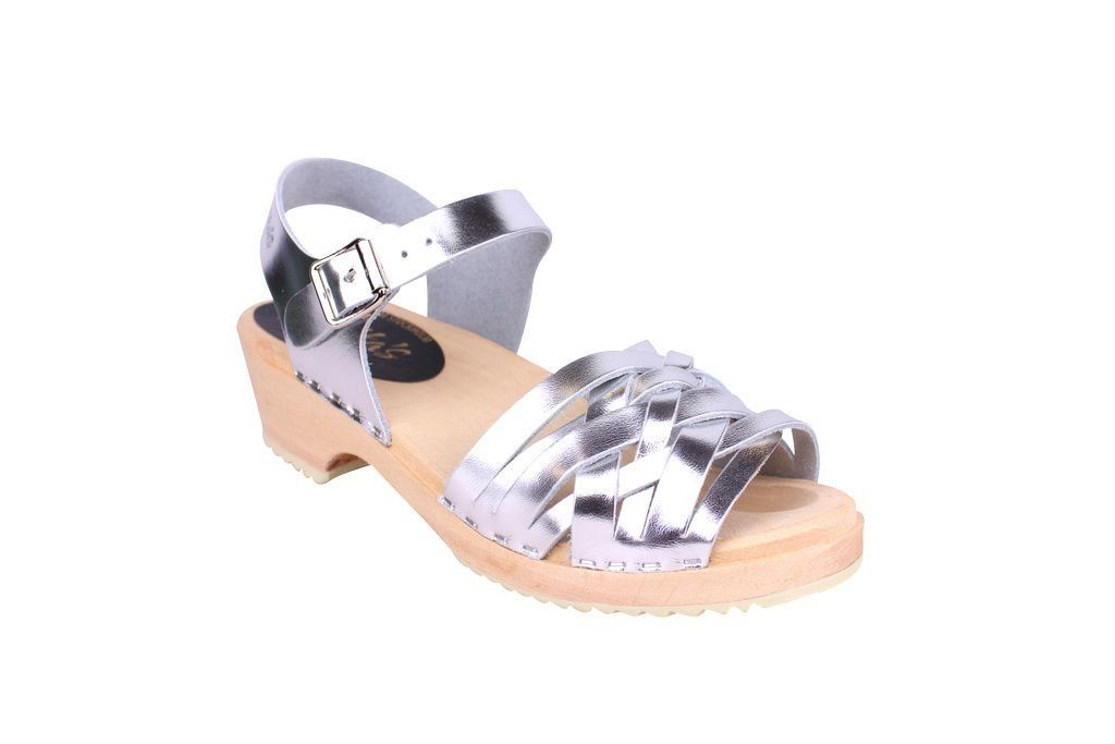 Lotta From Stockholm Low Silver Braid Clogs Main 2