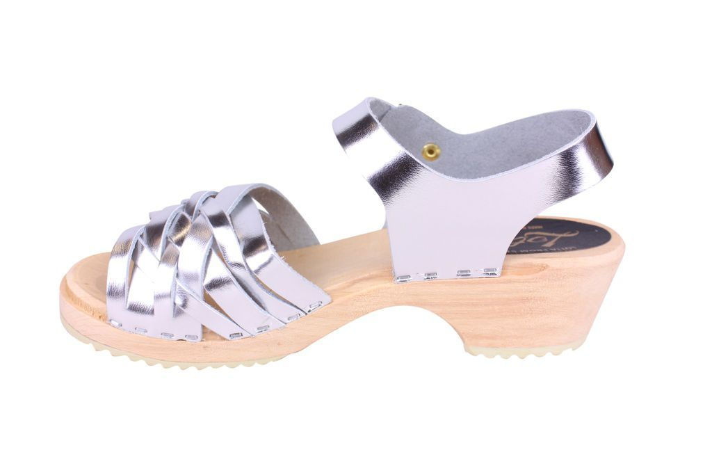 Lotta From Stockholm Low Silver Braid Clogs Rev Side