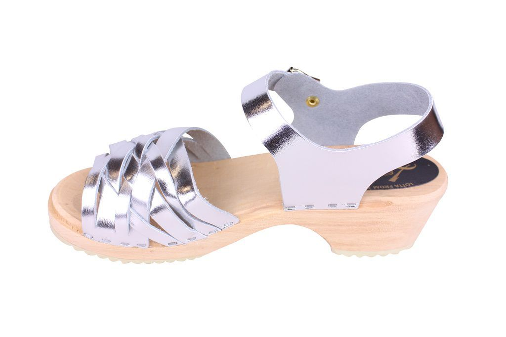 Lotta From Stockholm Low Silver Braid Clogs Rev Side 2