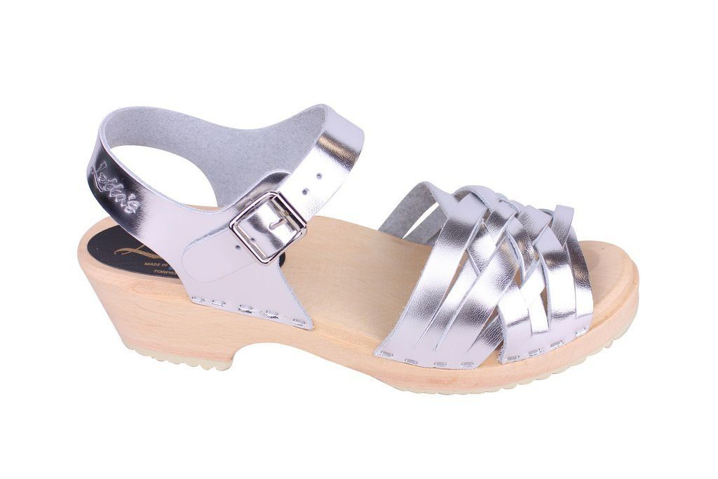 Lotta From Stockholm Low Silver Braid Clogs Side 2