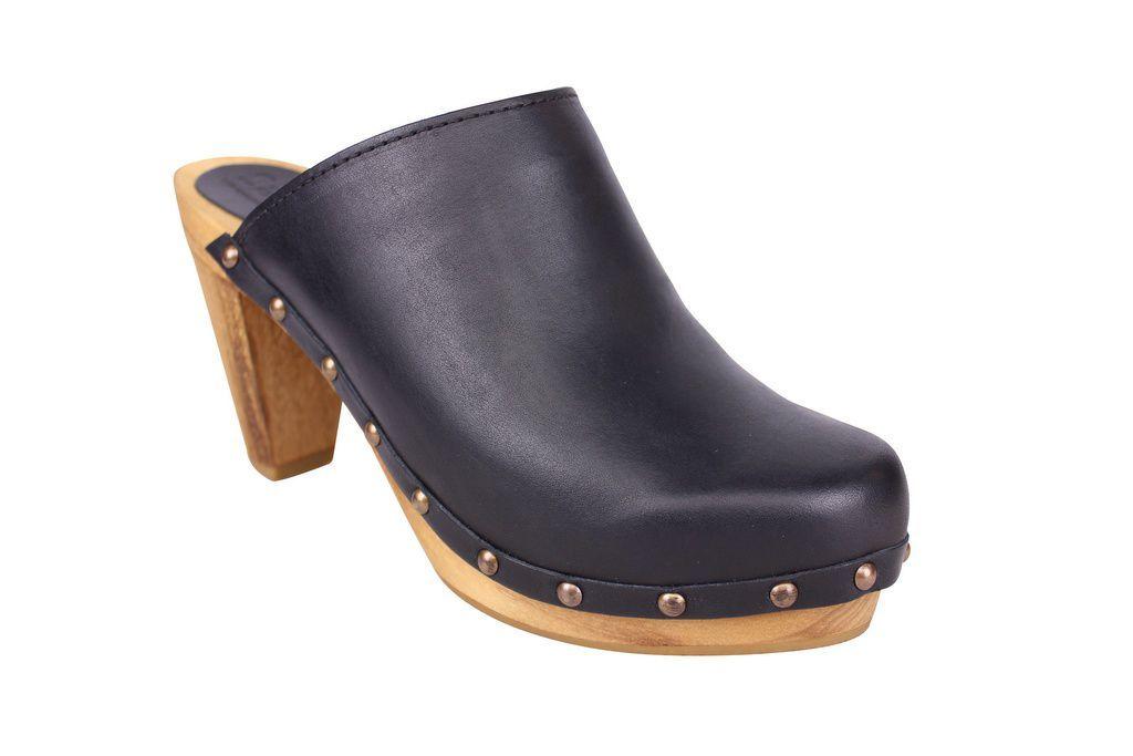 Sanita High Heel Slip On Clog