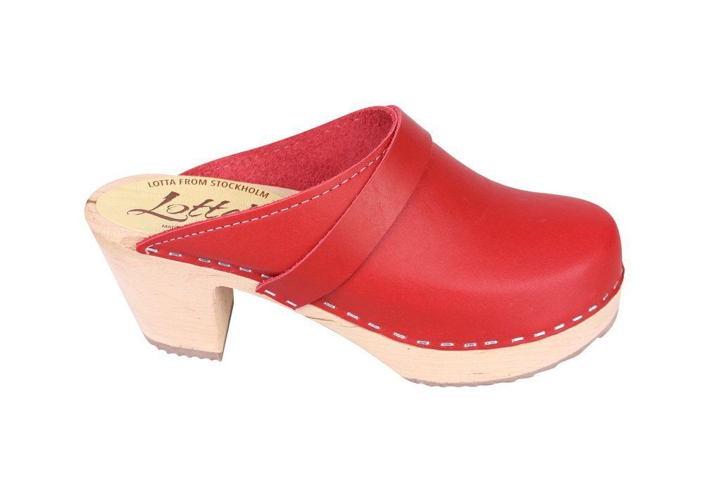 Lotta From Stockholm Classic High Clog in Red Side 2