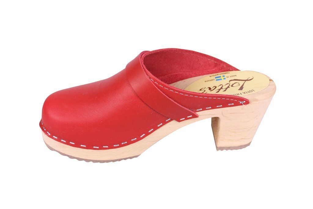 Lotta From Stockholm Classic High Clog in Red rev Side 5