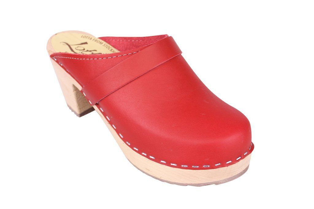 Lotta From Stockholm Classic High Clog in Red