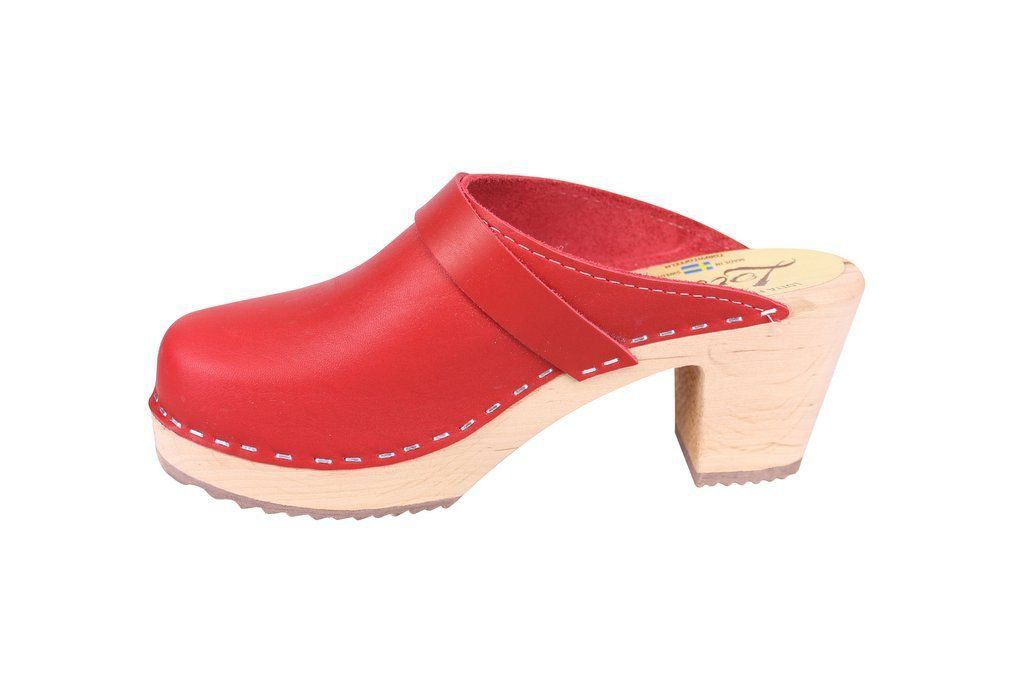 Lotta From Stockholm Classic High Clog in Red Rev Side