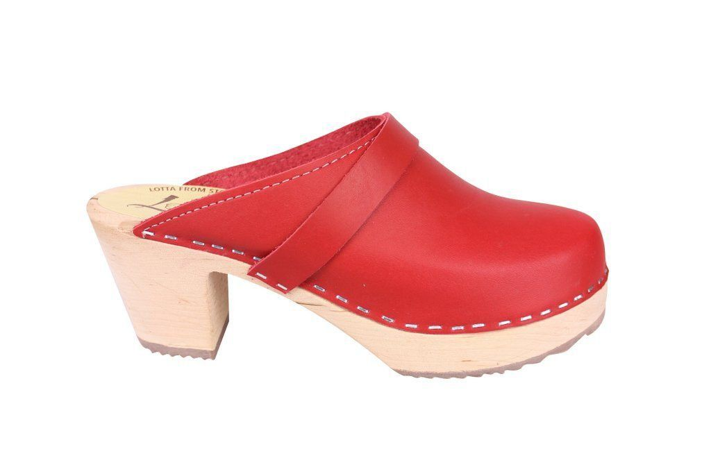 Lotta From Stockholm Classic High Clog in Red Side