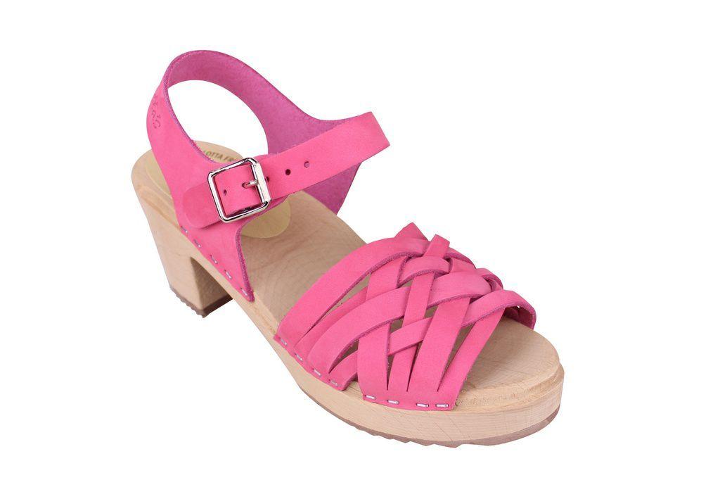 Lotta From Stockholm Pink Nubuck Braids