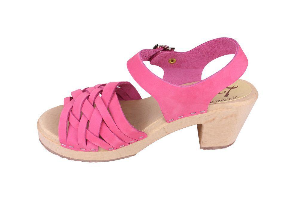 Lotta From Stockholm Pink Nubuck Braids rev side