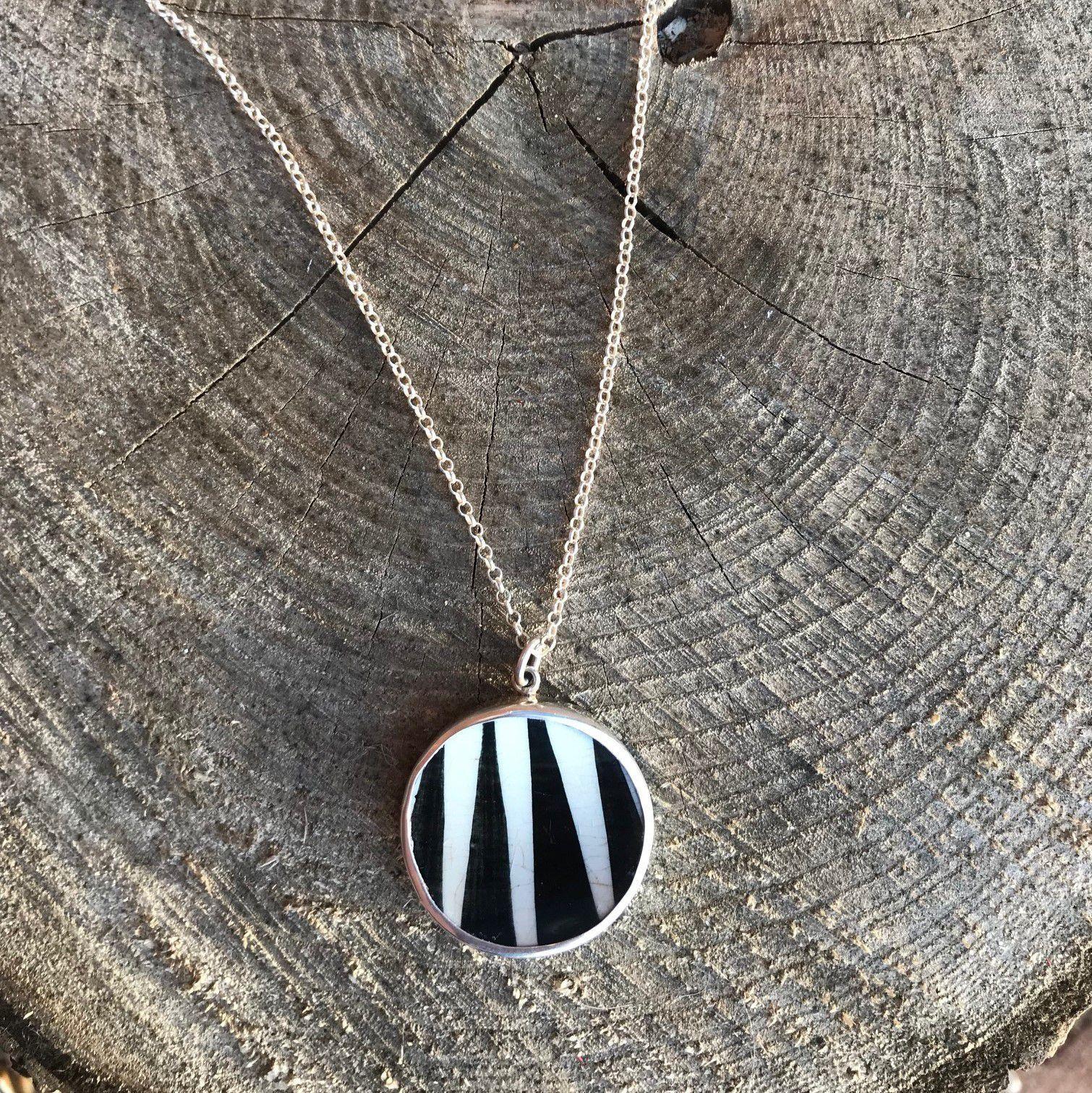 Sagen Zebra Porcelain Necklace