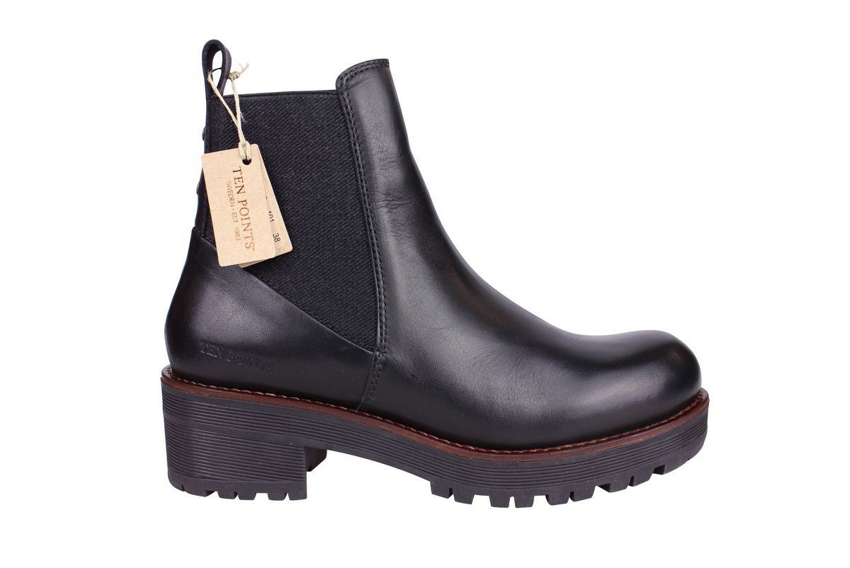 Ten Points Clarisse Black Chelsea Boot side