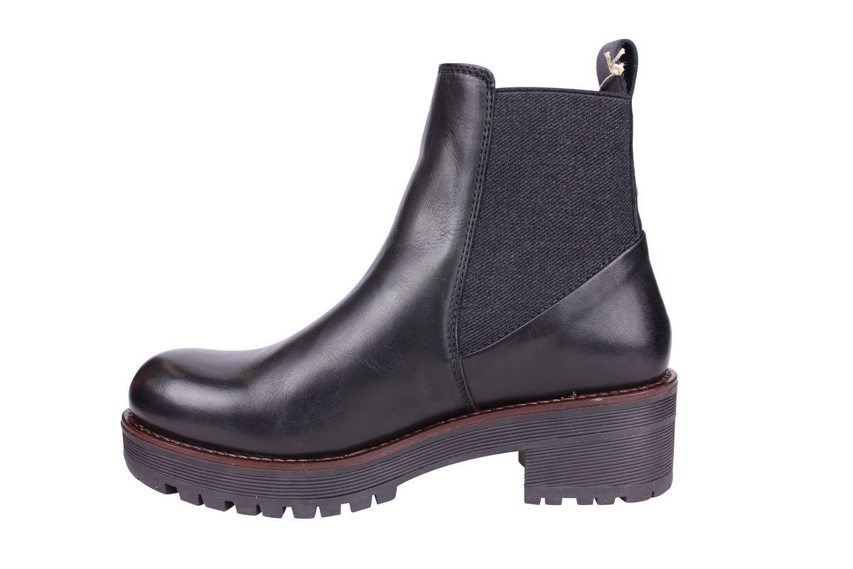 Ten Points Clarisse Black Chelsea Boot rev side