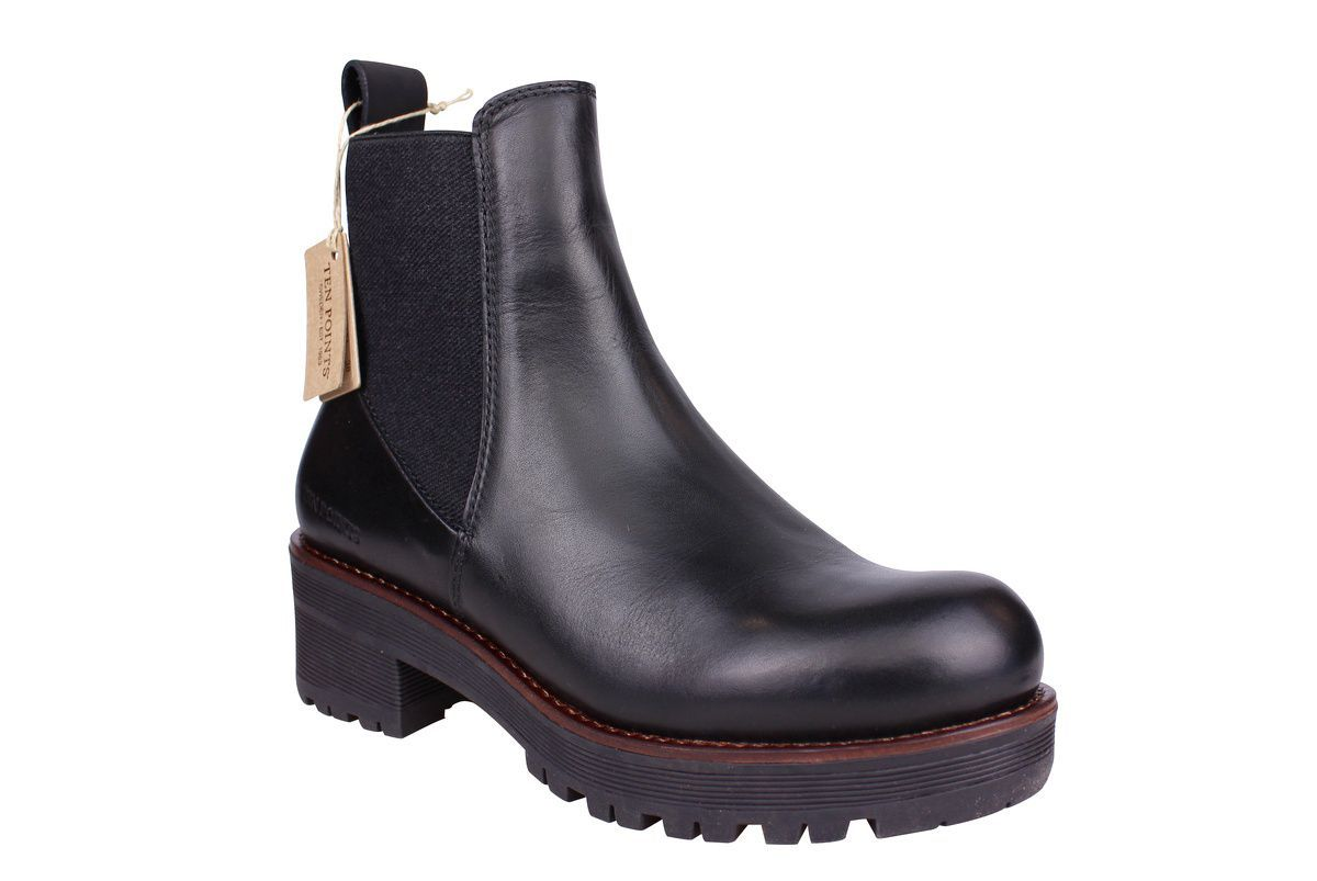 Ten Points Clarisse Black Chelsea Boot main
