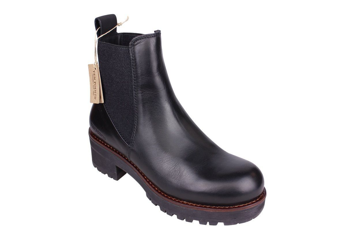 Ten Points Clarisse Black Chelsea Boot
