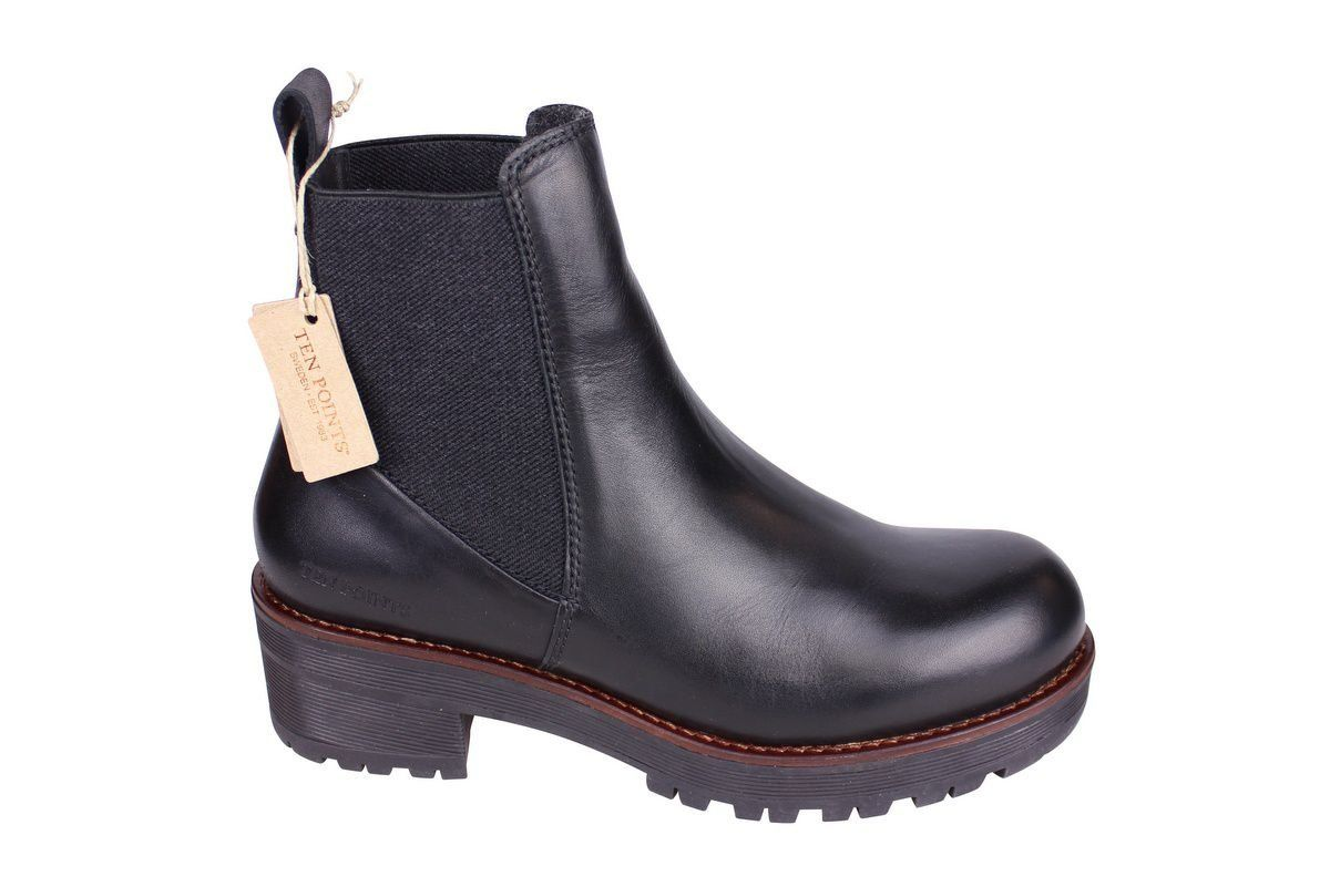 Ten Points Clarisse Black Chelsea Boot side 2