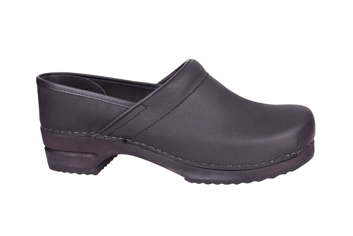 Sanita Julie closed clog in black 1201005W side