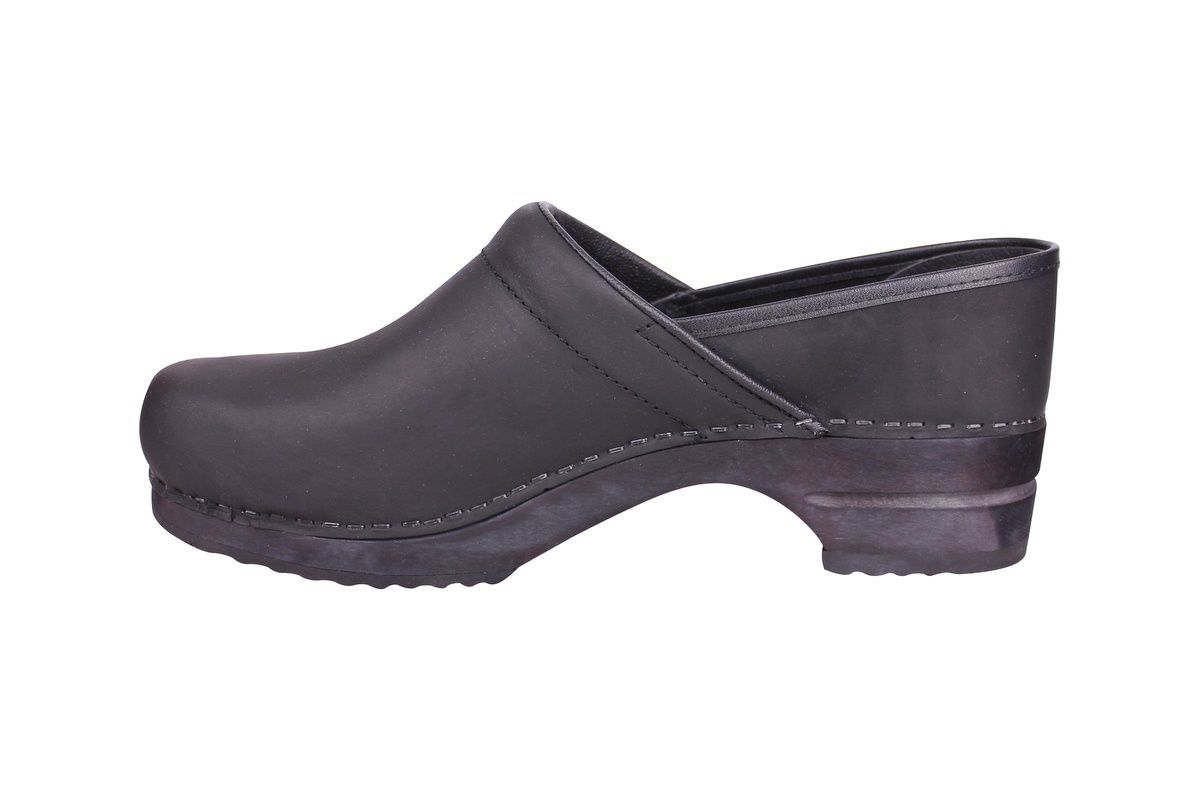 Sanita Julie closed clog in black 1201005W rev side