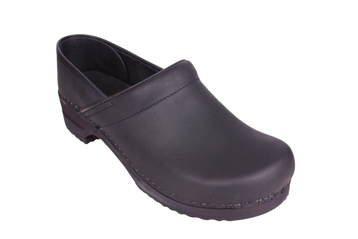 Sanita Julie closed clog in black 1201005W