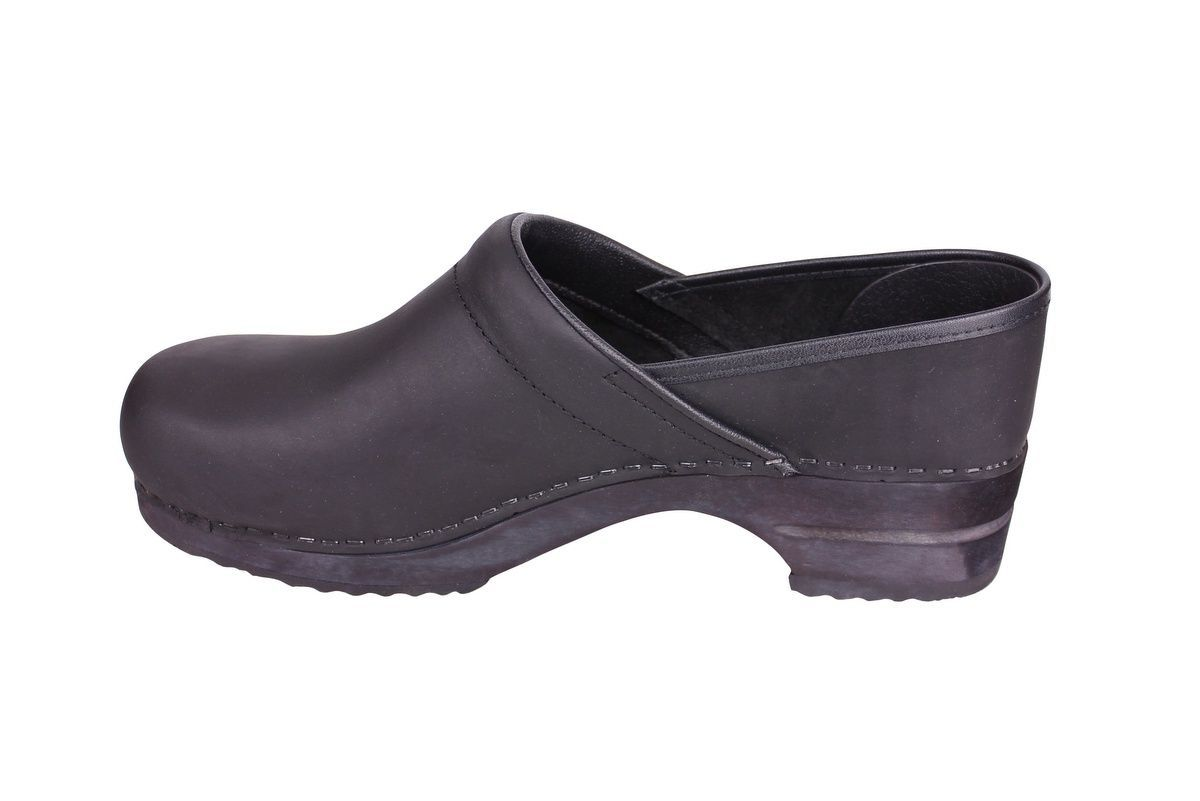 Sanita Julie closed clog in black 1201005W rev side 2