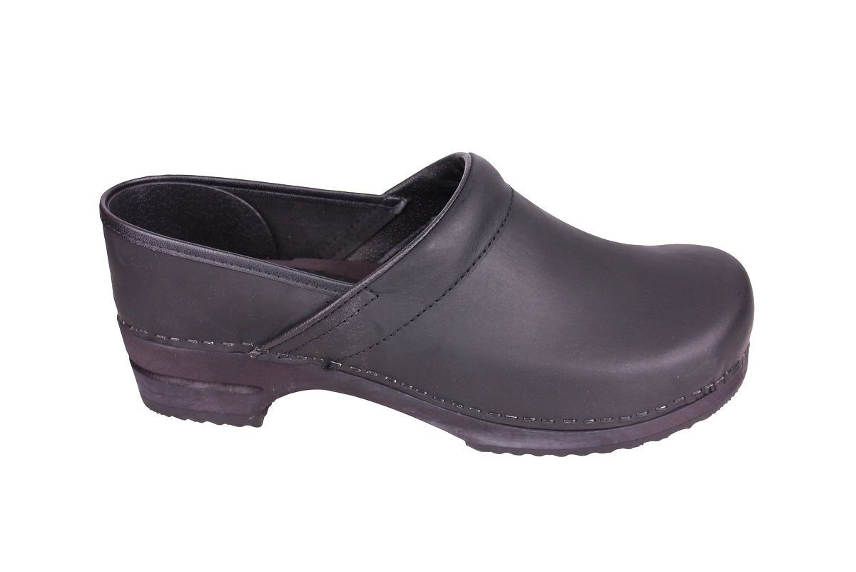 Sanita Julie closed clog in black 1201005W side 2
