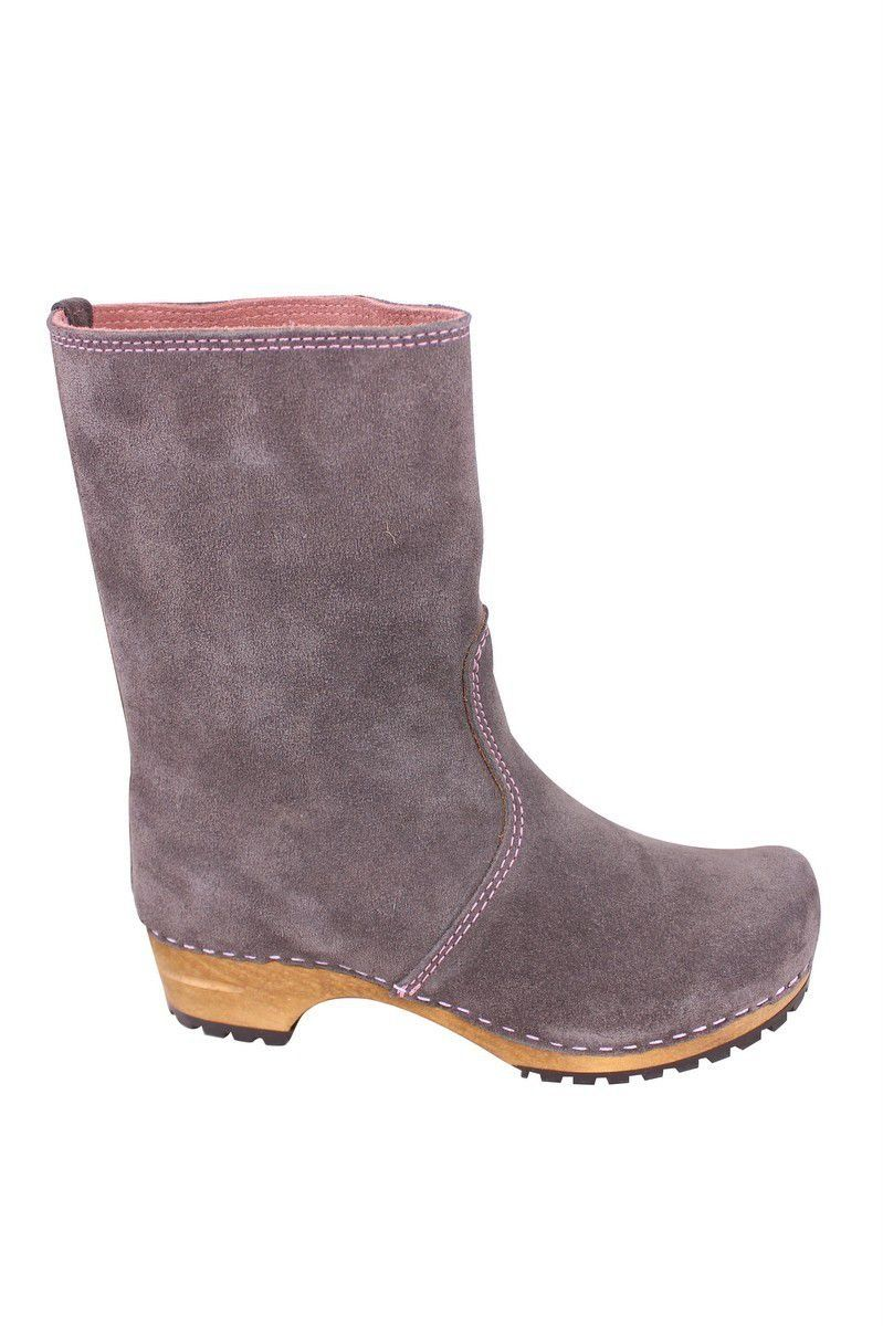 Sanita Charlotta Clog boot in Anthracite side