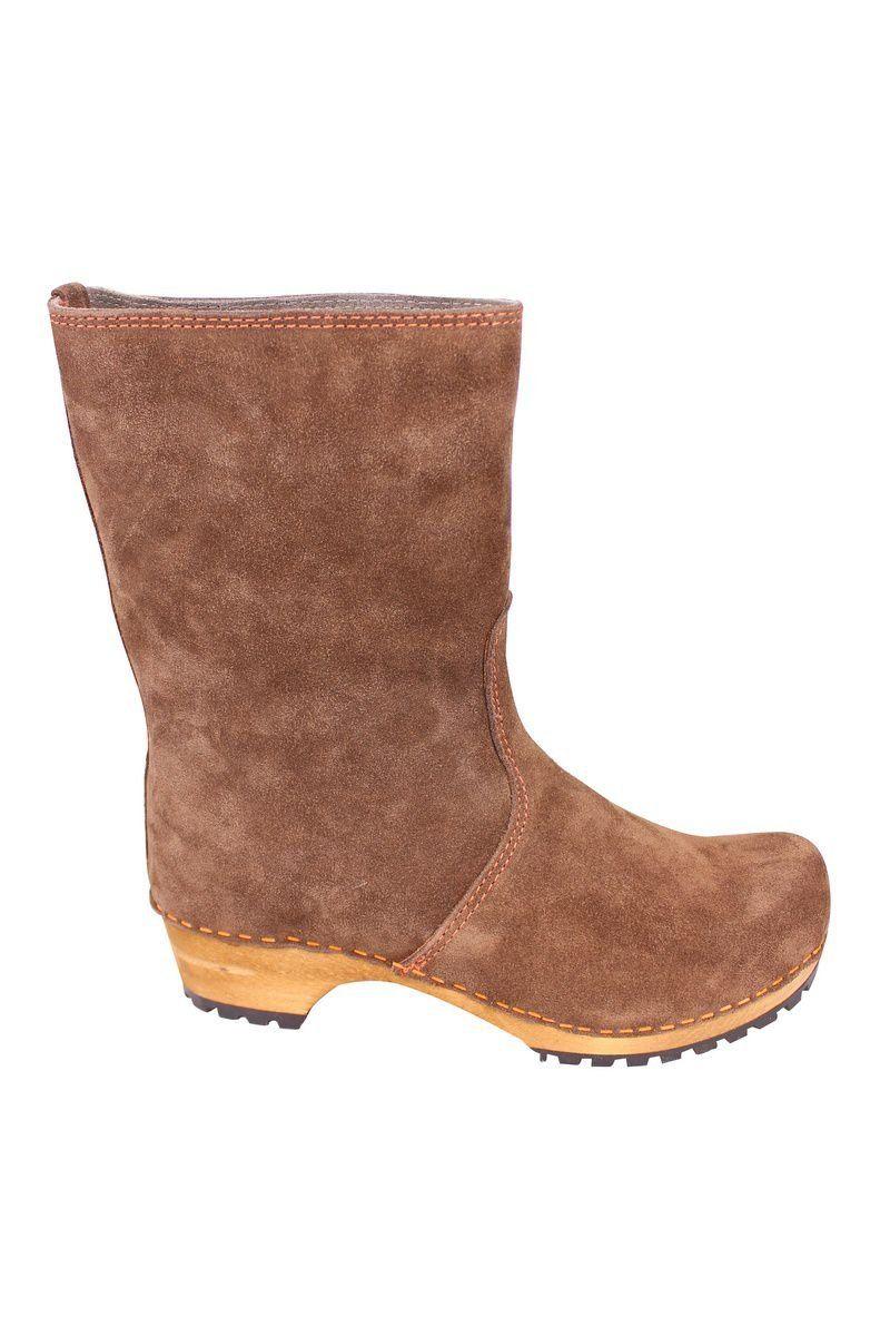 Sanita Charlotta Clog boot in brown side