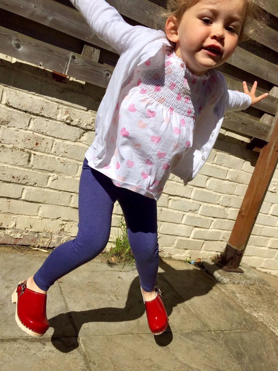 Little Lotta's Red Patent Clogs