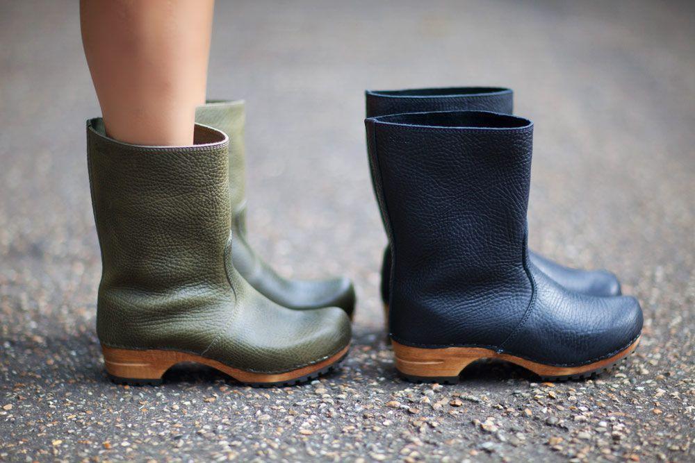 sanita puk olive clog boot