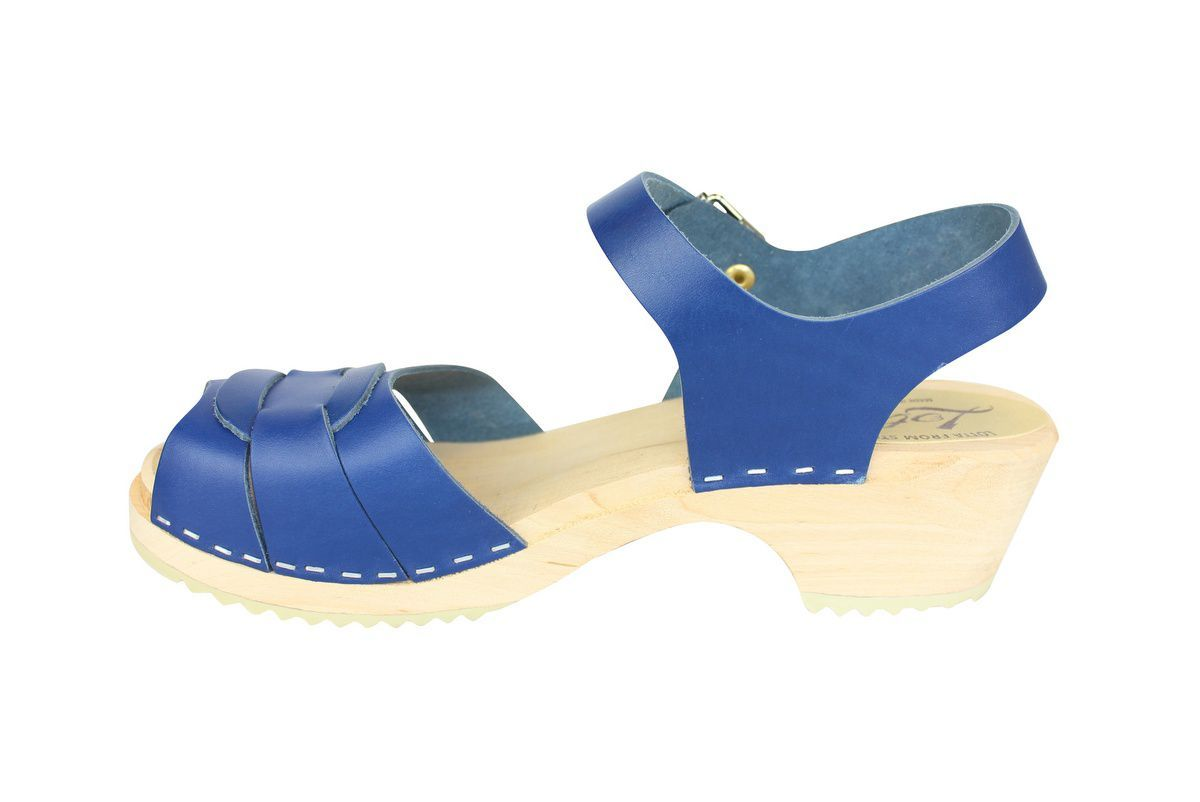 Low Peep Toe Ocean Blue rev side