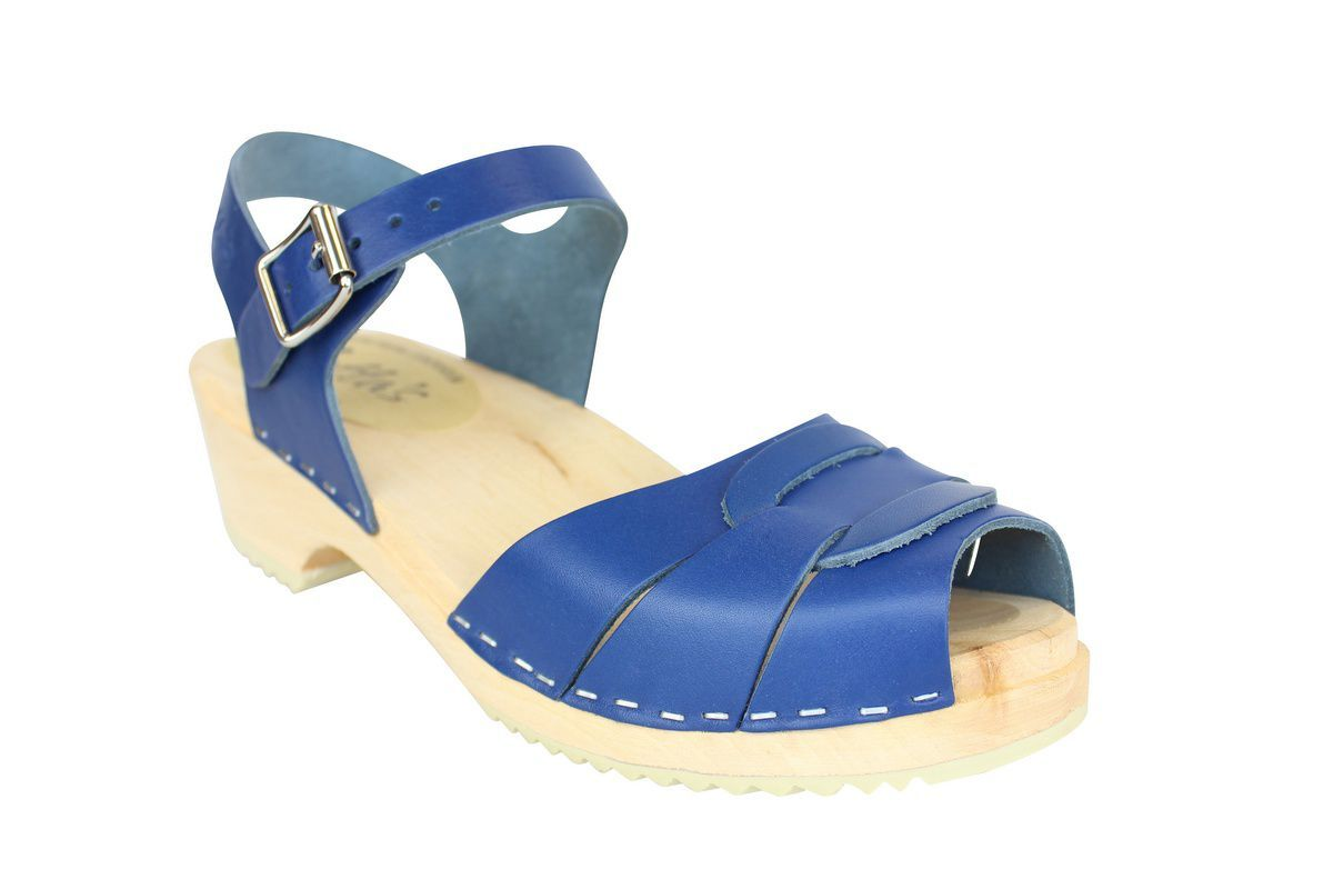 Low Peep Toe Ocean Blue main
