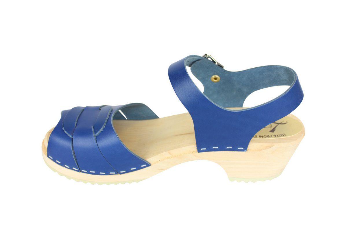 Low Peep Toe Ocean Blue rev