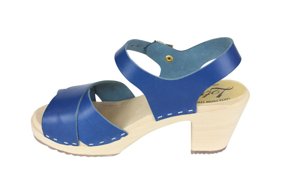 Cross Over Clogs Ocean Blue rev side