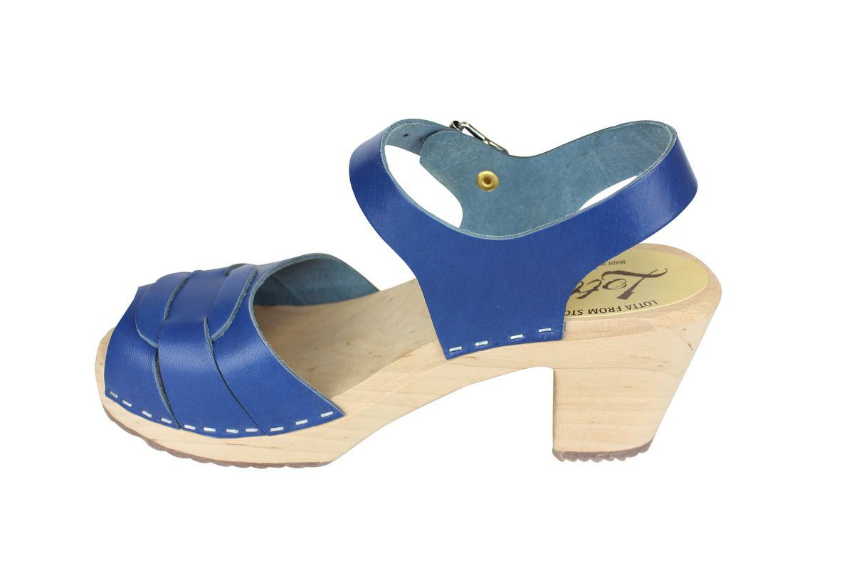 Peep Toe Clogs Ocean Blue rev side 2