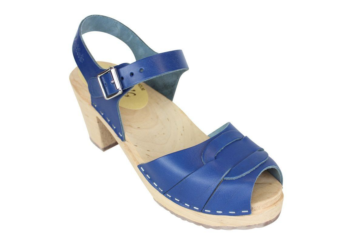 Peep Toe Clogs Ocean Blue