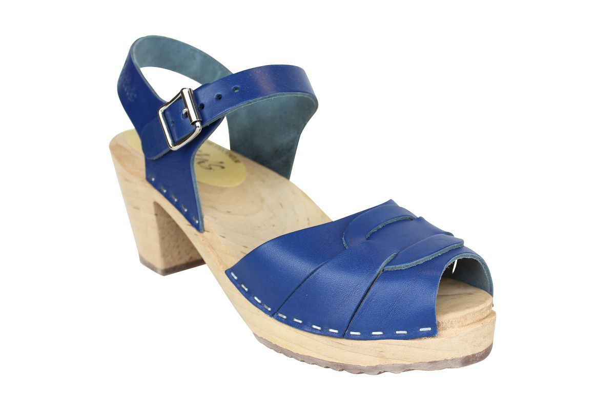 Peep Toe Clogs Ocean Blue main
