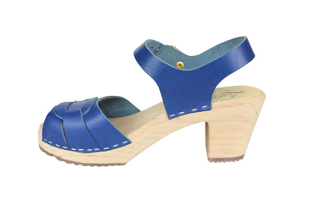 Peep Toe Clogs Ocean Blue rev side
