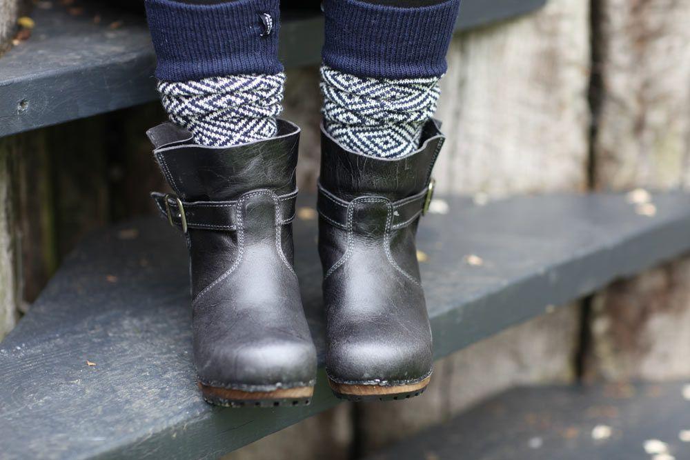 Sanita Mina Black Clog Boots