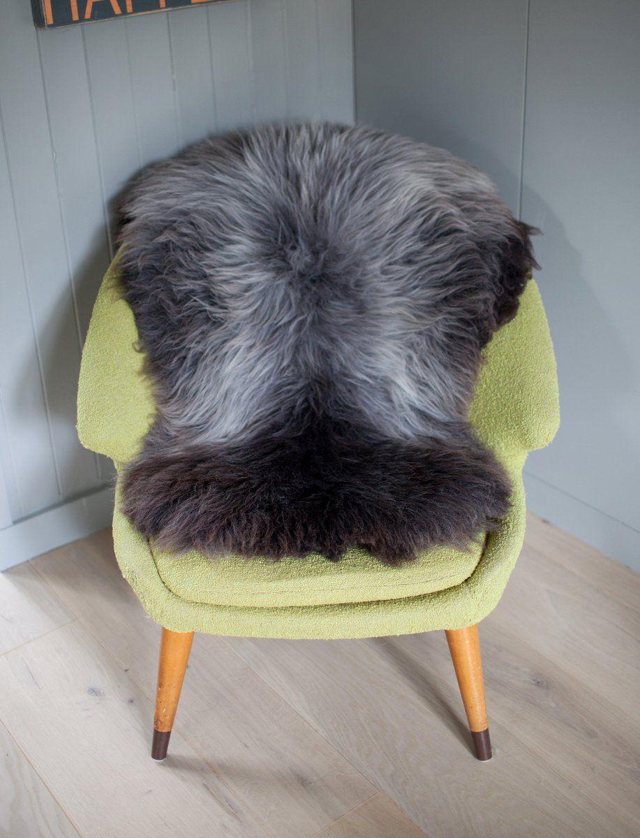 Grey Irish Sheepskin L