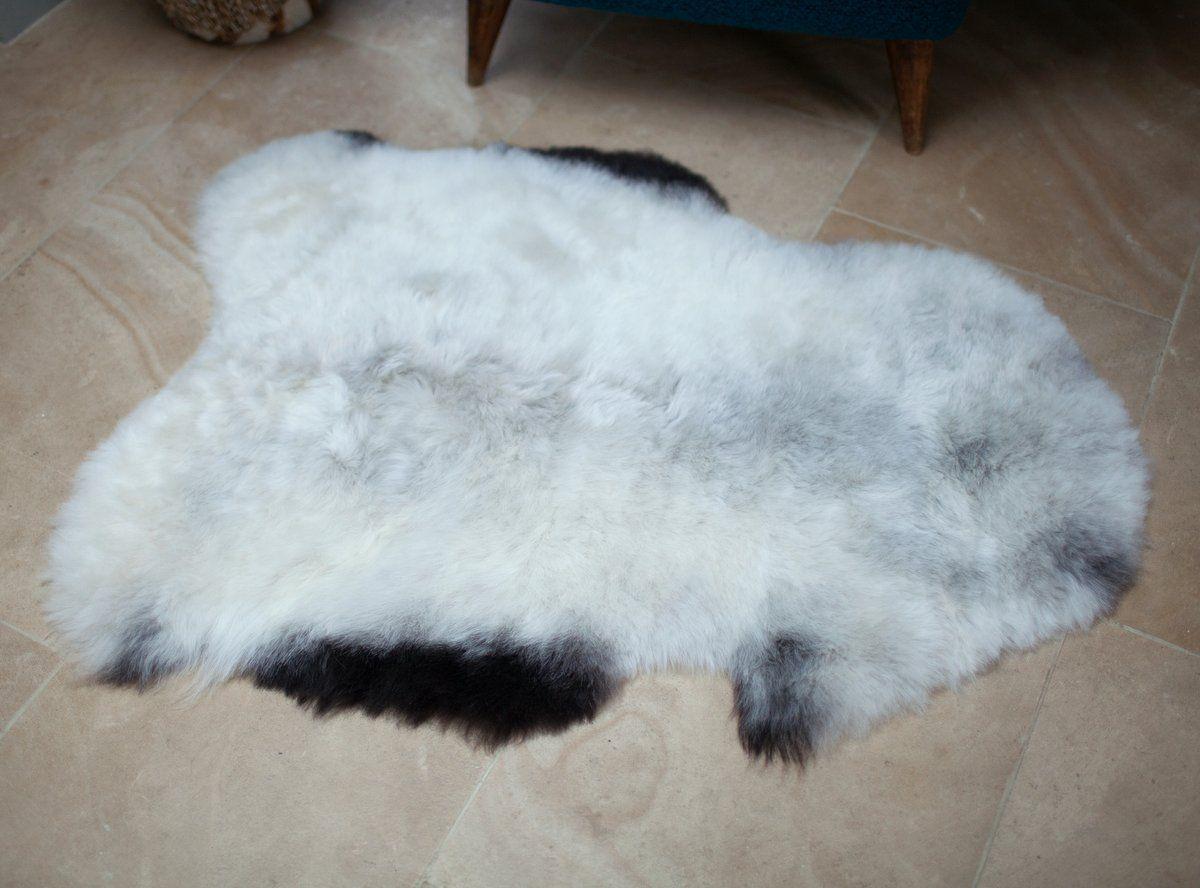 Grey with Dark Edges Icelandic Shorn Sheepskin M