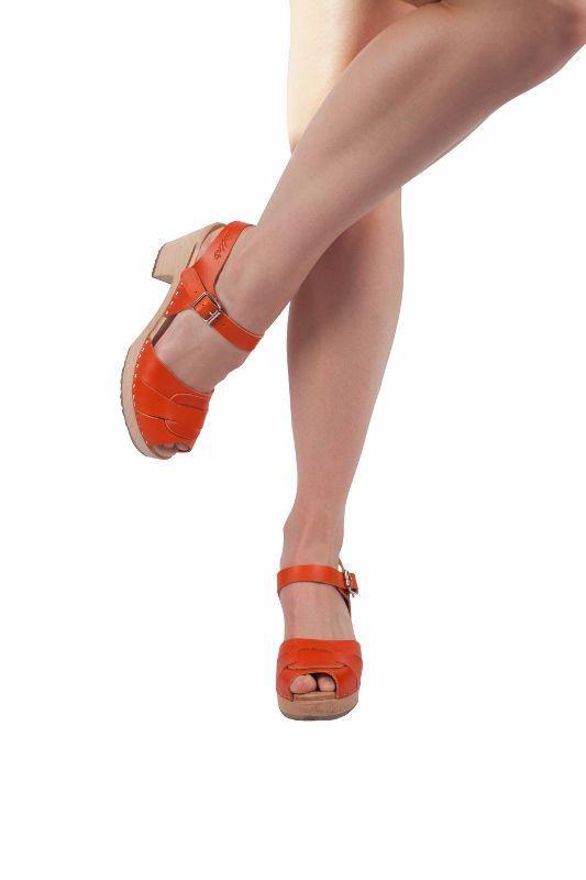 Peep Toe Clogs Orange Seconds