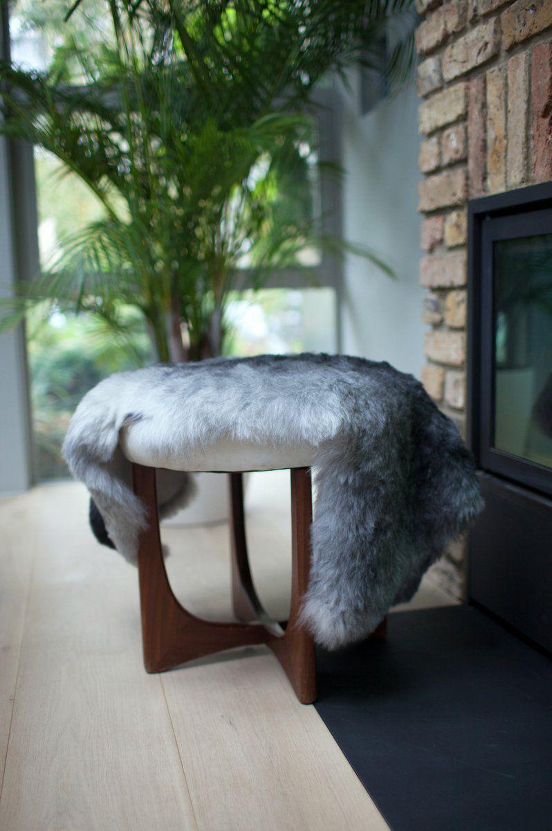 Grey Icelandic Shorn Sheepskin M