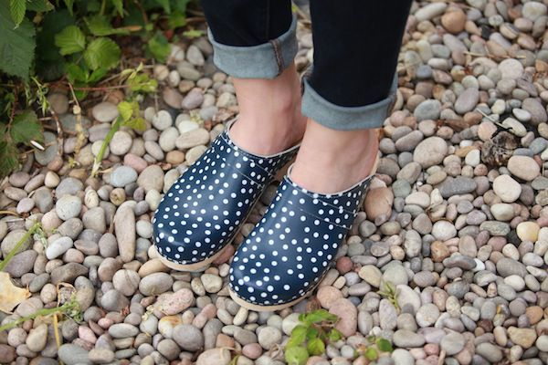Classic Clog Blue with White Spots