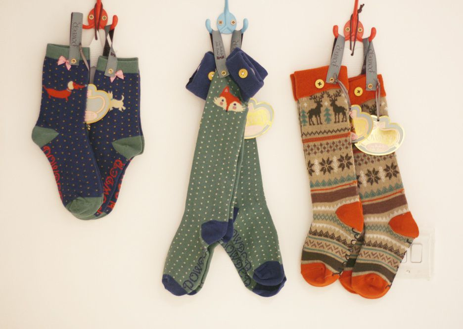 Powder Little Girl's Mr Fox Socks