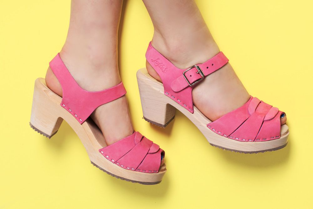 Lotta From Stockholm High Heel Peep Toe Pink Nubuck