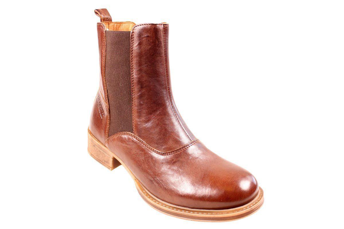 Ten Points Pandora Brown Chelsea Boot Long