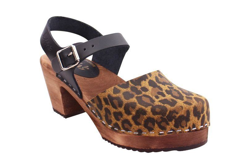 Highwood Leopard Print and Black with Brown Base