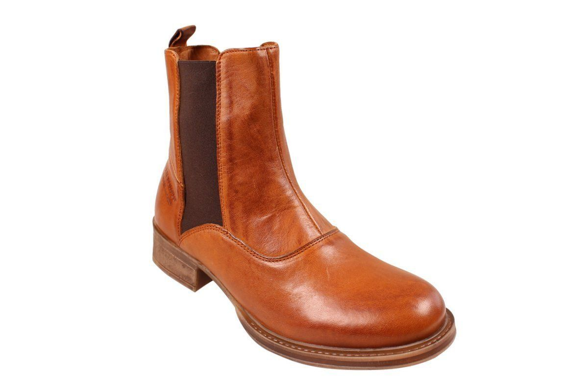 Ten Points Pandora Cognac Chelsea Boot Long