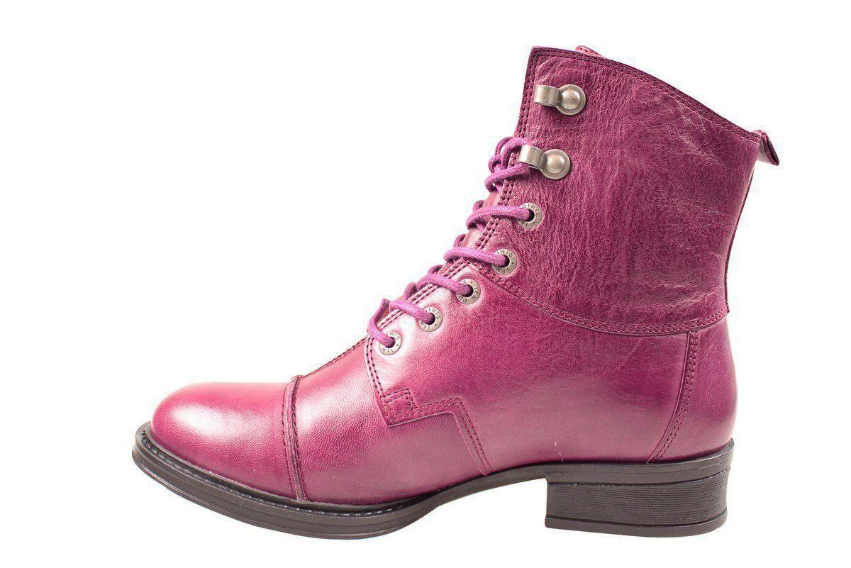 Ten Points Pandora Lace-Up Boot in Dark Purple