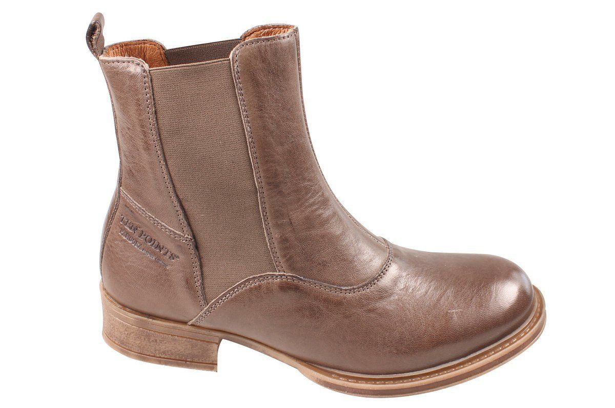 Ten Points Pandora Taupe Chelsea Boot Long