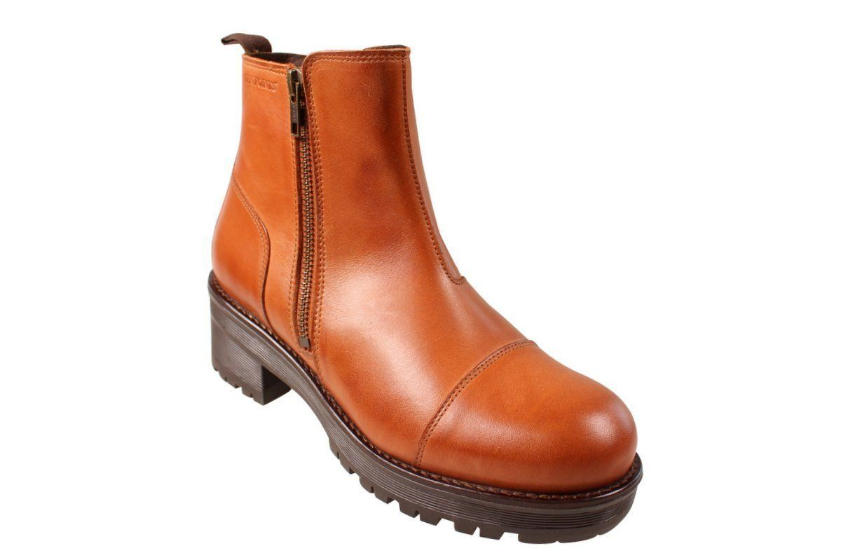 Ten Points Clarisse Cognac Chelsea Boot Zip